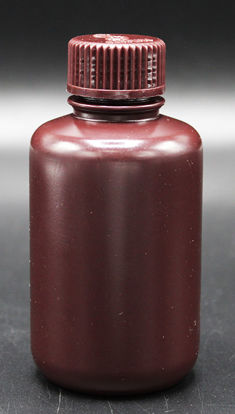 Picture of BN-430 - 125 ml Amber Narrow-Mouth Round HDPE Bottle (BN430)