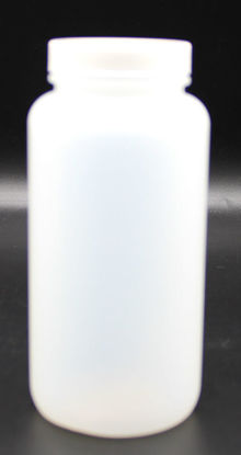 Picture of B-662 - 500 ml Plastic Wide-Mouth Bottle w/ Screw Cap (B662)