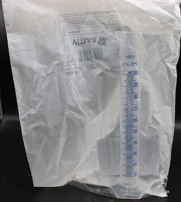 Picture of CB-649 - 100 ml PP Graduated Cylinder w/ Blue Scale (CB649)
