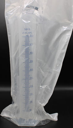 Picture of CB-651 - 500 ml PP Graduated Cylinder w/ Blue Scale (CB651)