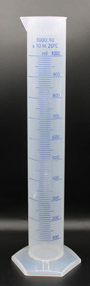 Picture of CB-652 - 1000 ml PP Graduated Cylinder w/ Blue Scale (CB652)