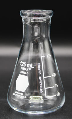 Picture of FK-861 - 125 ml Wide-Mouth Erlenmeyer Flask, Kimax (FK861)