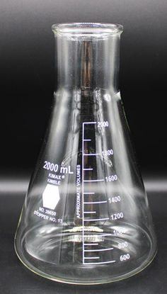 Picture of FK-865 - 2000 ml Wide-Mouth Erlenmeyer Flask, Kimax (FK865)