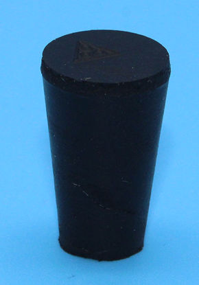 Picture of R-000 - Size 000 No-Holes Rubber Stopper (R000)