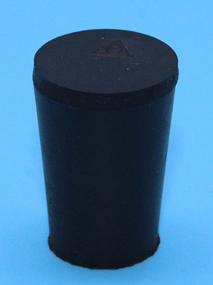 Picture of R-0 - Size 0 No-Holes Rubber Stopper (R0)