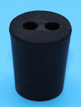 Picture of R-2B - Size 2 2-Hole Rubber Stopper (R2B)
