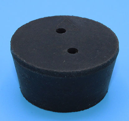 Picture of R-10B - Size 10 2-Hole Rubber Stopper (R10B)