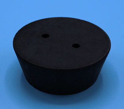 Picture of R-11.5B - Size 11.5 2-Hole Rubber Stopper (R11.5B)