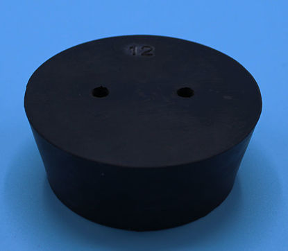 Picture of R-12B - Size 12 2-Hole Rubber Stopper (R12B)
