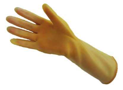 Picture of G-408 - Amber Reusable Latex Gloves, Size 8 (G408)