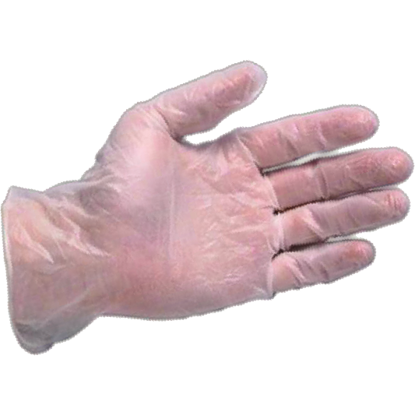 Picture of GD-100 - White Powder-Free Disposable Vinyl Gloves, Size L (GD100)