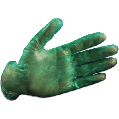 Picture of PK(300/pk) - GD-5300-L - Green Lightly-Powdered Disposable Vinyl Gloves, Size L (GD5300L)