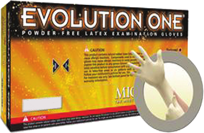Picture of GD-200-M - Evolution One Amber Powder-Free Disposable Latex Gloves, Size M (GD200M)