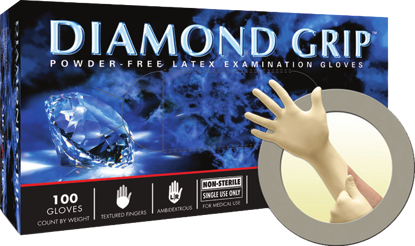 Picture of MF-300-S - Diamond Grip Powder-Free Disposable Latex Gloves, Size S (MF300S)