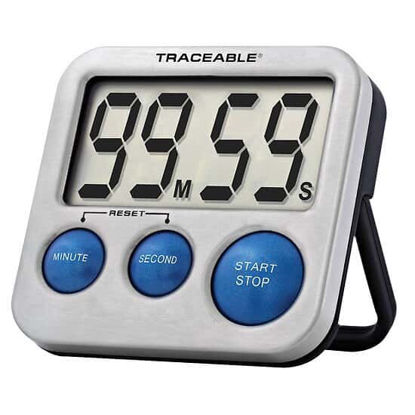 Picture of EA - CC-5128 - Traceable Blue-Steel Digital Timer with Calibration (CC5128)